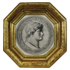 French Framed Lithograph of Napoleon after Canova