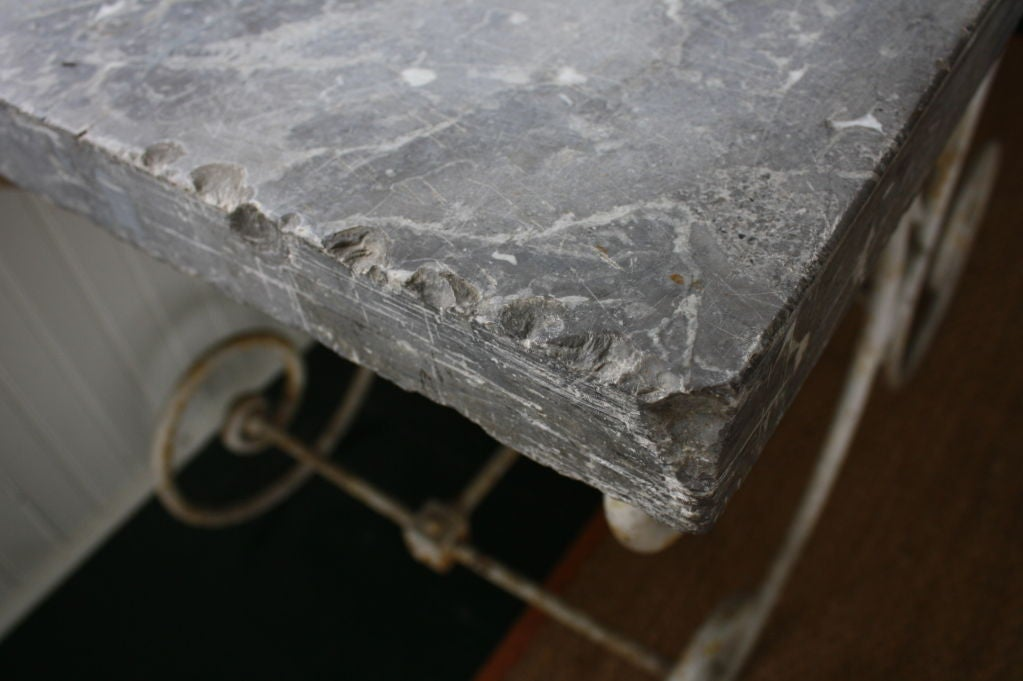 French Marble-Top Baker's Table For Sale 2