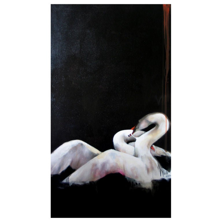 Swan Fight 2 By Beth Marcum At 1stdibs