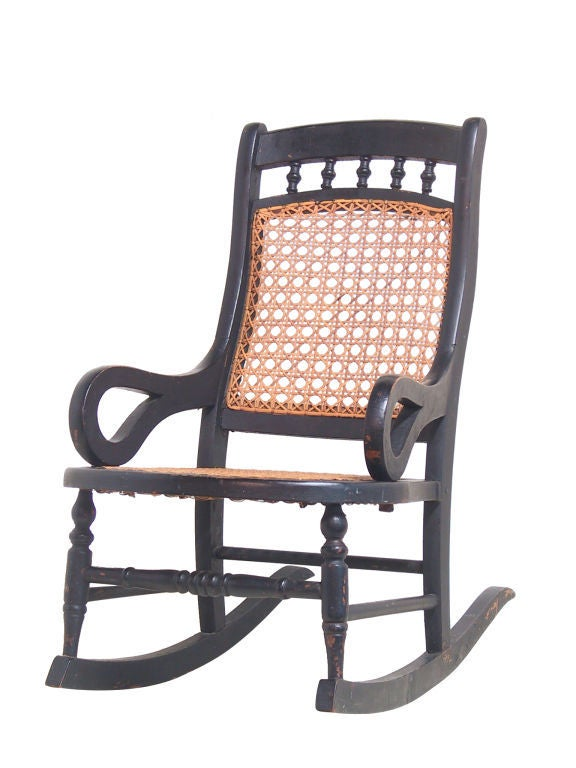 Red Rocking Chair Billy Strings ~ Child s rocker at stdibs