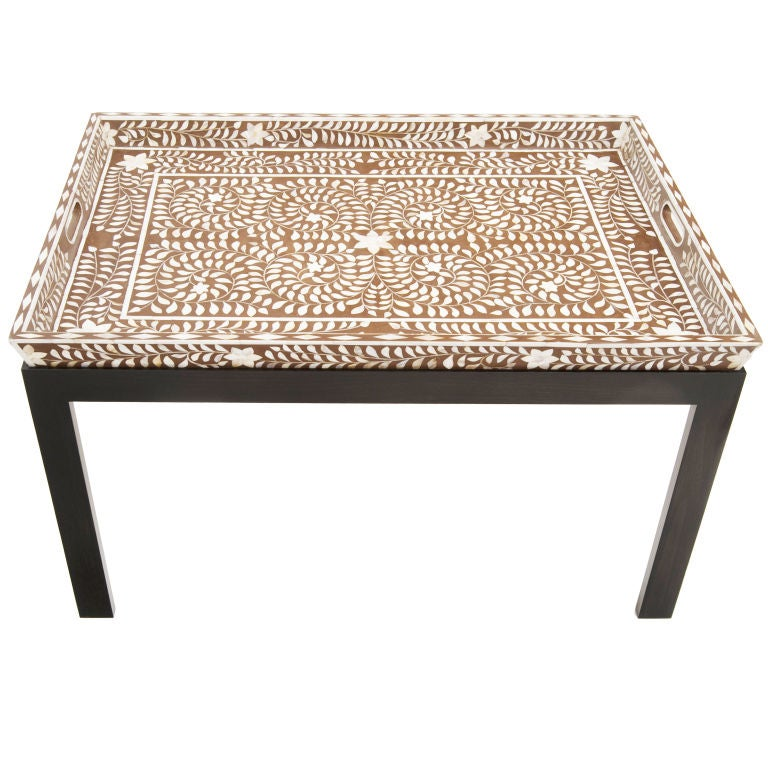 Mother Of Pearl Inlay Tray Table At 1stdibs