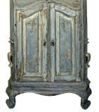 18th Century Swedish Blue Baroque Cabinet thumbnail 6