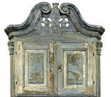 18th Century Swedish Blue Baroque Cabinet thumbnail 3
