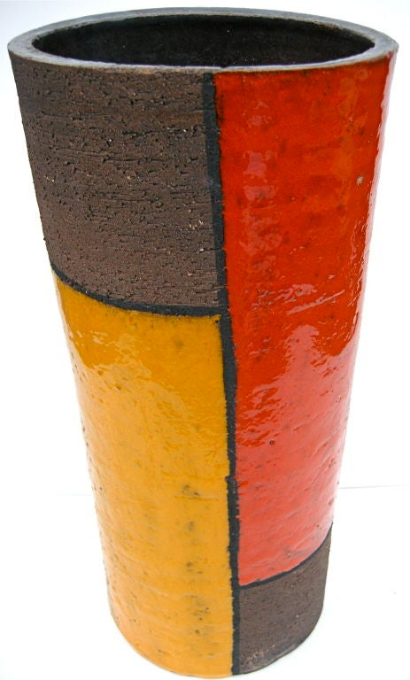 Striking mondrian style vessel at 1stdibs for Mondrian vase