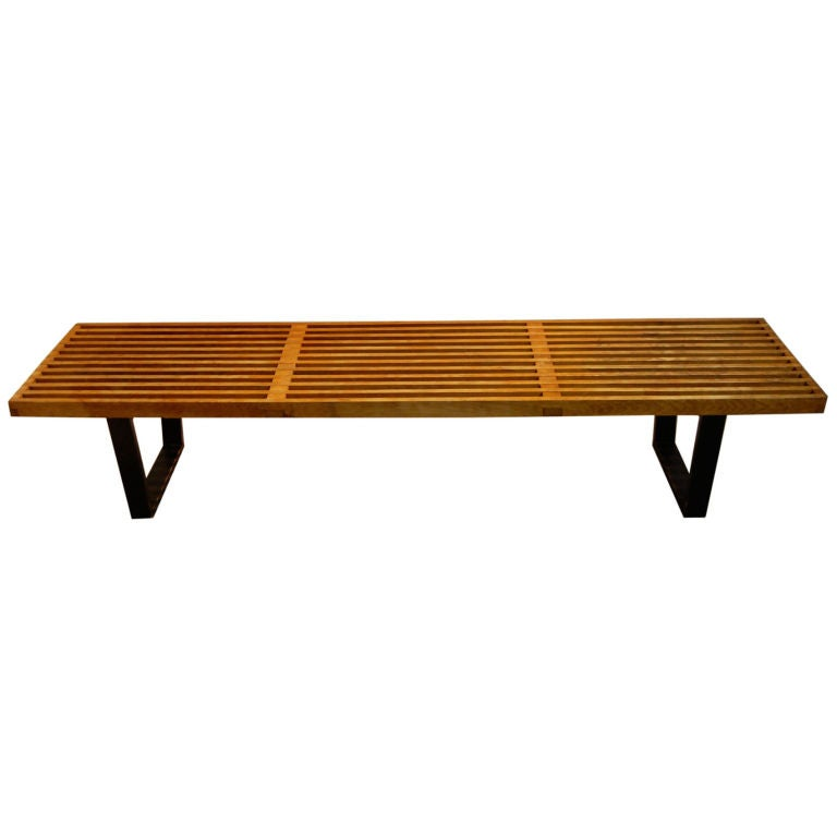 George Nelson Vintage Slat Bench At 1stdibs