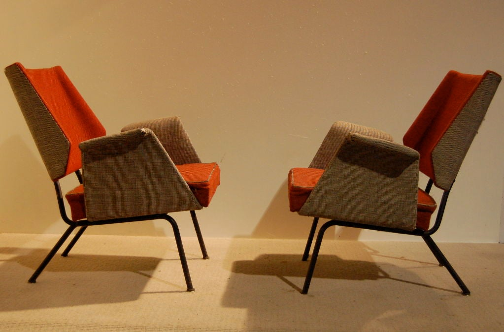 PAIR OF 50 s ITALIAN CHAIRS FOR REUPHOLSTERY at 1stdibs
