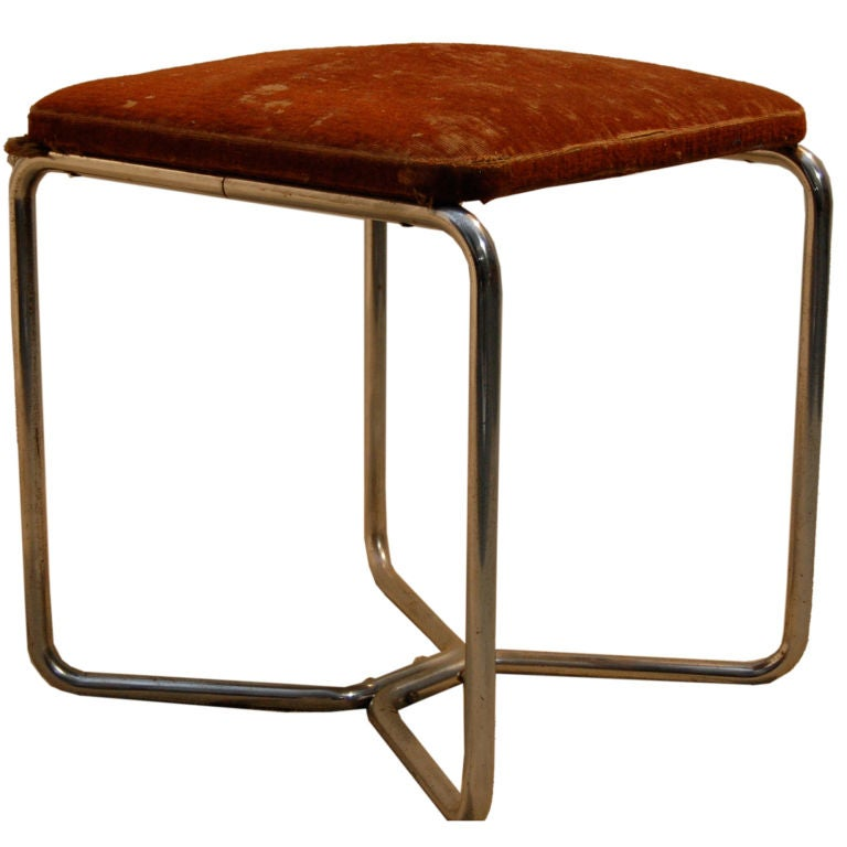 marcel breuer b8 stool thonet label at 1stdibs. Black Bedroom Furniture Sets. Home Design Ideas