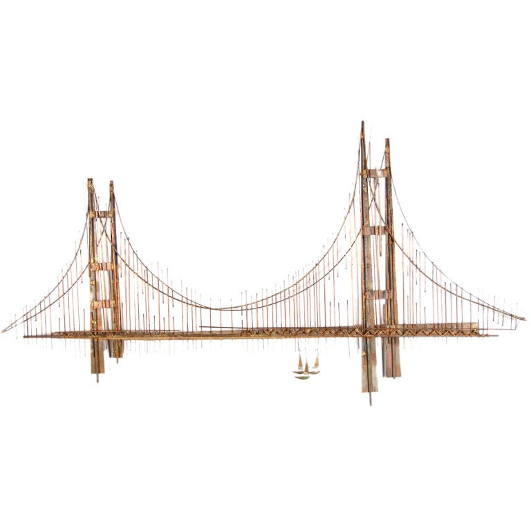 Curtis jere golden gate bridge at 1stdibs for Golden gate bridge jewelry