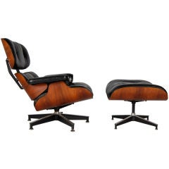 STUNNING CHARLES AND RAY EAMES LOUNGE CHAIR AND OTTOMAN