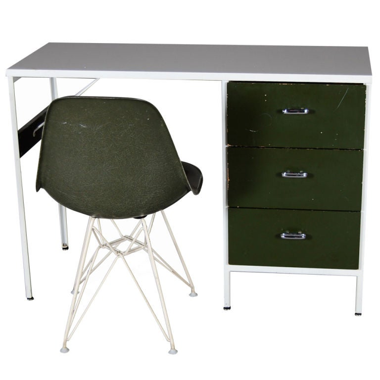 George Nelson Steelframe Desk And Eames Chair At 1stdibs