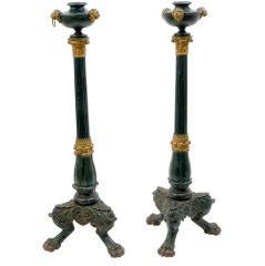 Pair of Cast Iron Torcheres