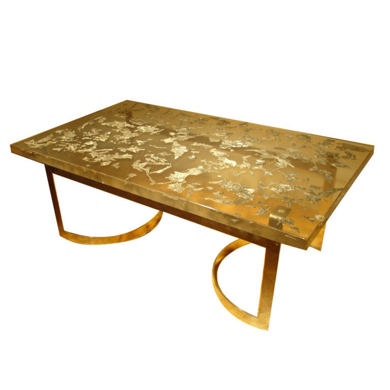 A Resin And White Metal Coffee Table At 1stdibs