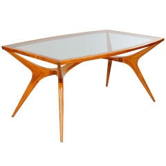 Organic Table & Six Chairs by Giuseppe Scapinelli, Brazil, 1950s