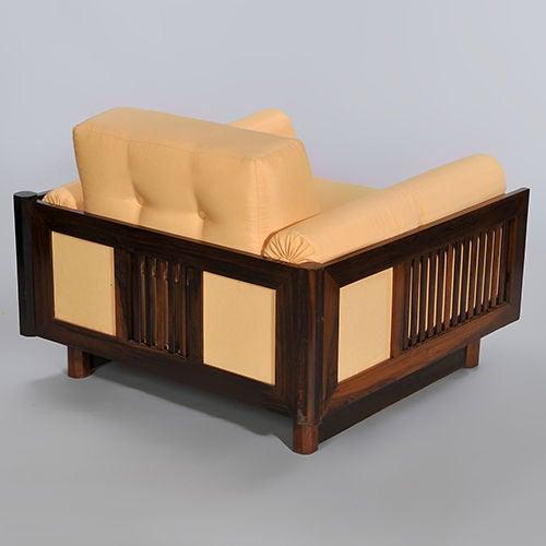 Pair of Brazilian Hardwood 'Quadrado' Chairs 5