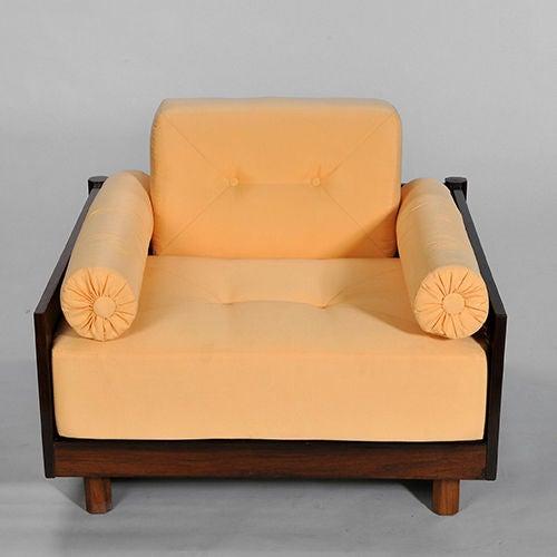 Pair of Brazilian Hardwood 'Quadrado' Chairs 3