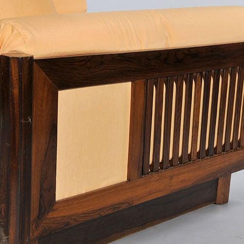Pair of Brazilian Hardwood 'Quadrado' Chairs 7