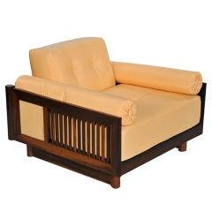 Pair of Brazilian Hardwood 'Quadrado' Chairs