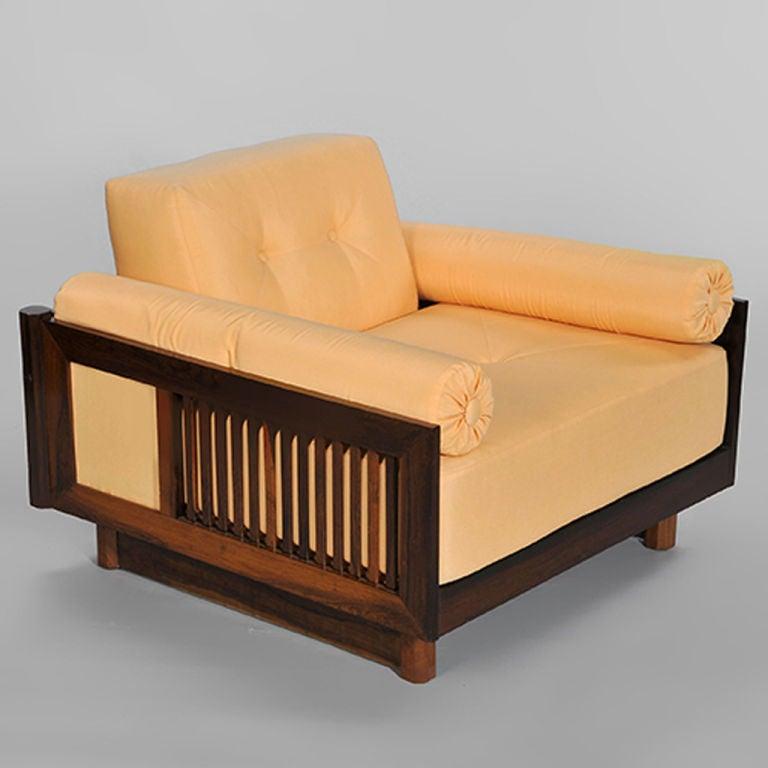 Pair of Brazilian Hardwood 'Quadrado' Chairs 4