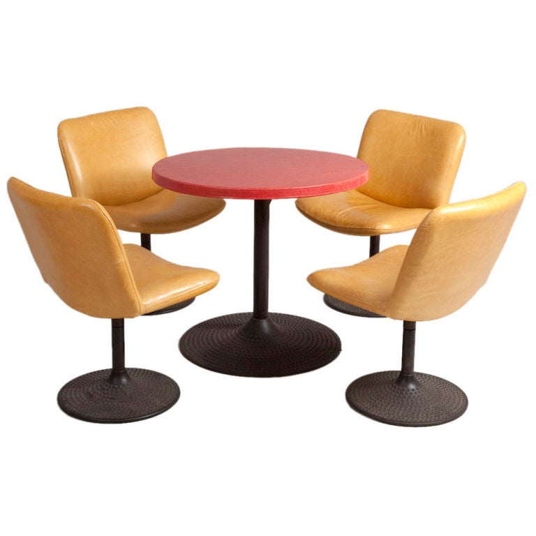 A Set of Four  Asko Designed Caribe Chairs