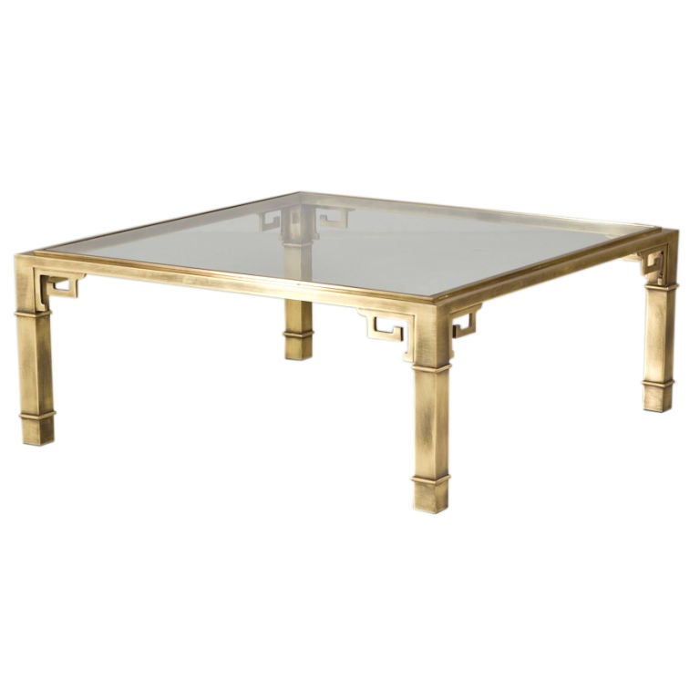 A Mastercraft Designed Greek Key Coffee Table Usa 1960s At 1stdibs