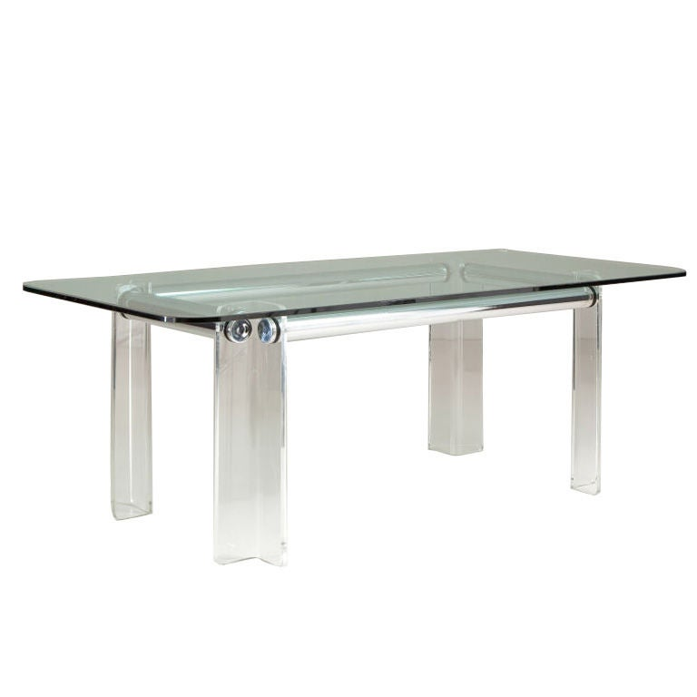 Dining Table: Lucite Dining Table