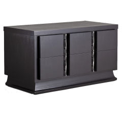 A Black Rom Weber Two Drawer Cabinet