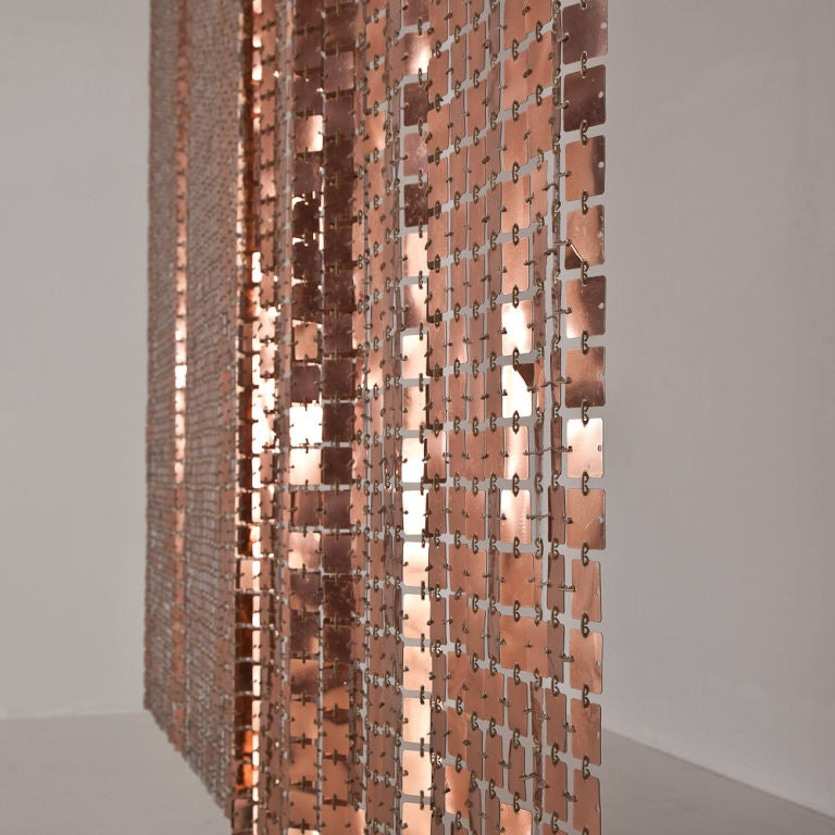 Copper Curtain Wall : A paco rabanne designed copper gold space curtain ca