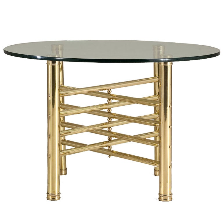1960s Italian Brass Occasional Table