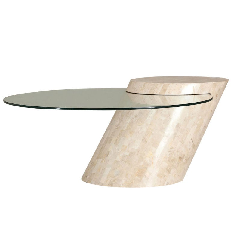 A Maitland Smith Stone Veneered Canilevered Coffee Table At 1stdibs