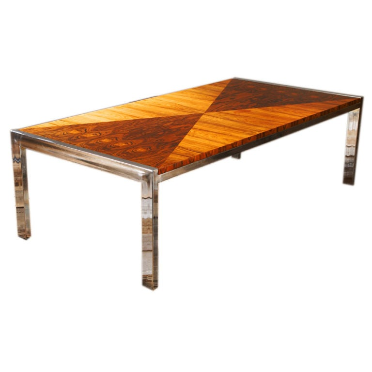 A 1970s Nickel Framed Rectangular Coffee Table At 1stdibs
