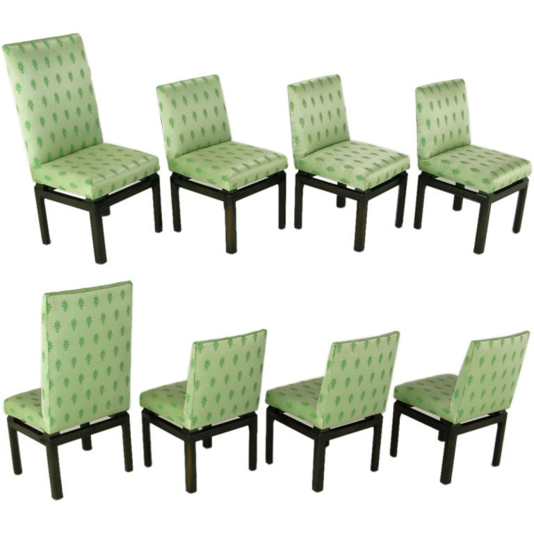 Eight Baker Far East Collection Dining Chairs At 1stdibs