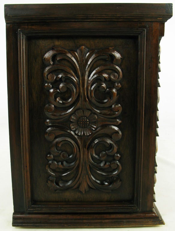 1960s Mexican Hand Carved Wood Cabinet 7