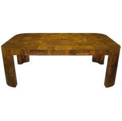 Paul Evans Patchwork Walnut Burl Dining Table