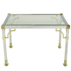 Chrome & Brass Regency Style End Table