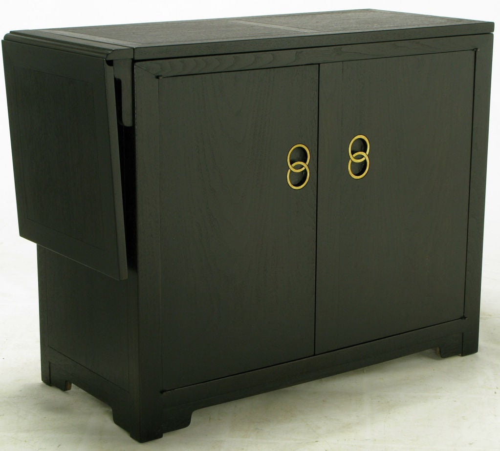 Micheal Taylor Custom Bar Cabinet With Built In Refrigerator At 1stdibs