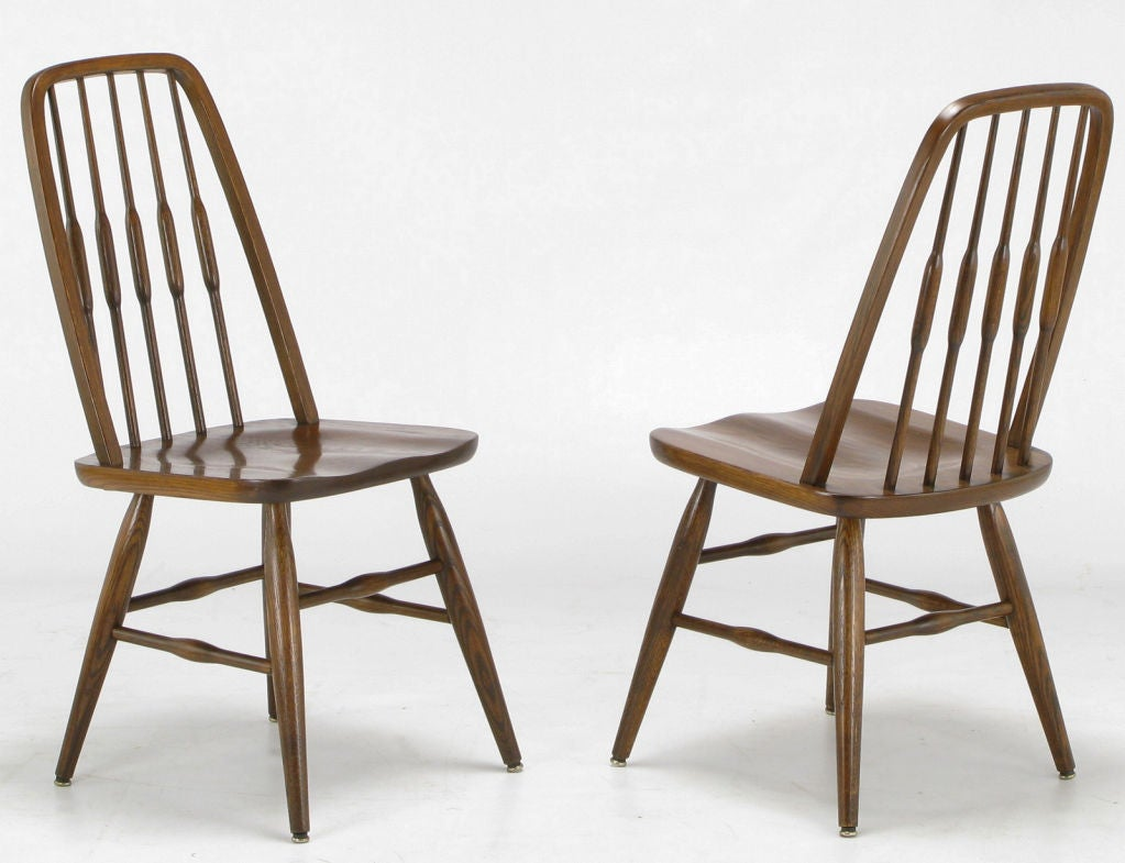 Set Six Dinaire Oak Spindle Back Dining Chairs image 2