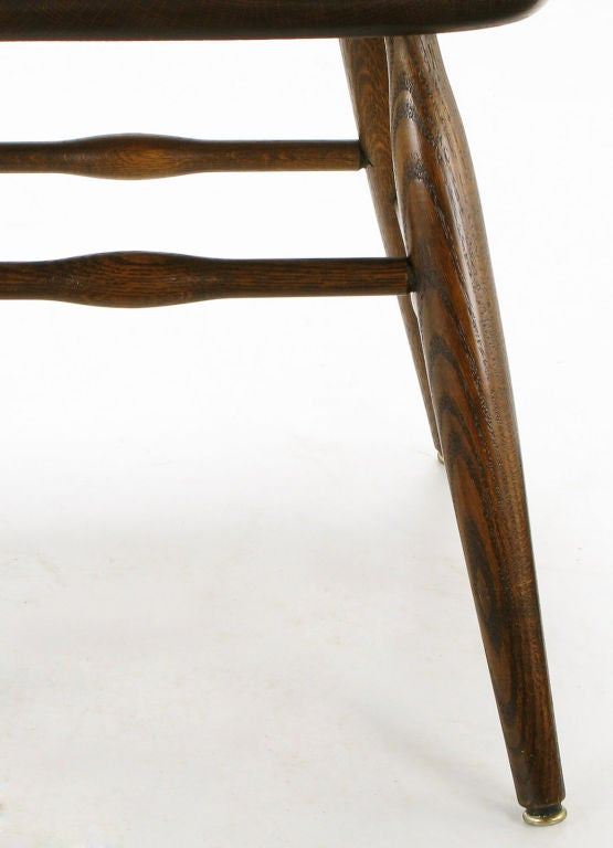 Set Six Dinaire Oak Spindle Back Dining Chairs 8