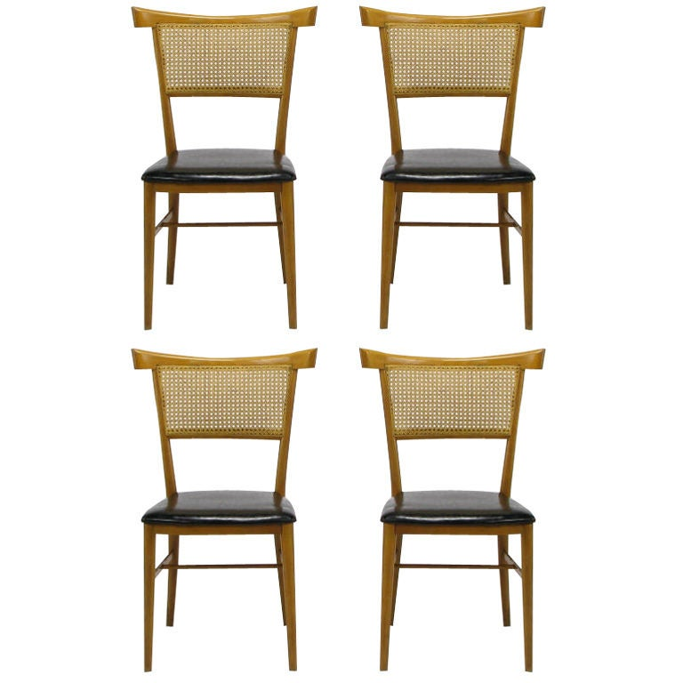 Set Four Paul McCobb Maple and Black Vinyl Dining Chairs  : 8419127186410011 from www.1stdibs.com size 768 x 768 jpeg 52kB