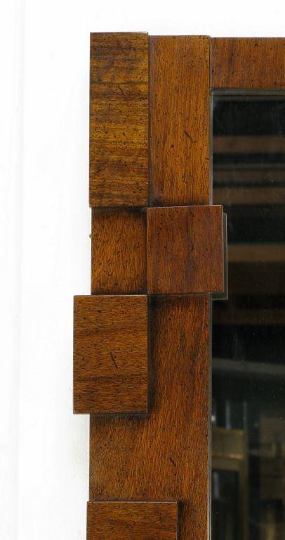 Pair tall and narrow block front walnut mirrors at 1stdibs for Tall narrow wall mirrors