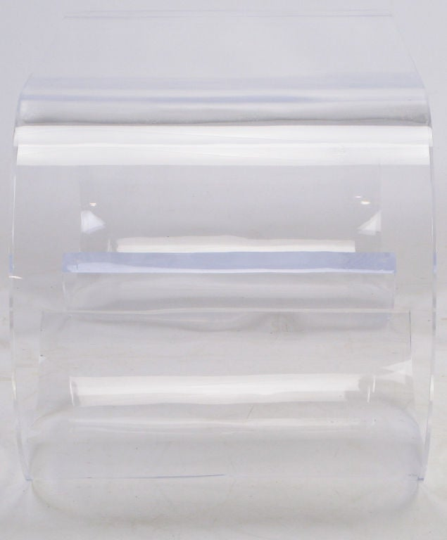 Thick Lucite Scroll Form  Coffee Table image 4