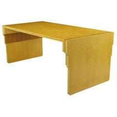 Pierre Paulin Birdseye Maple & Walnut Parquetry Writing Table