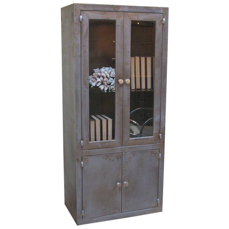 Industrial Steel Storage Cabinet at 1stdibs