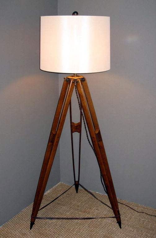 A Surveyor Tripod Floor Lamp At 1stdibs