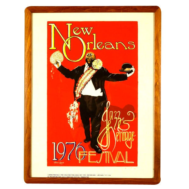 New Orleans Jazz And Heritage Festival 1976 Poster At 1stdibs