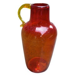 Blenko Large Glass Handled Jug