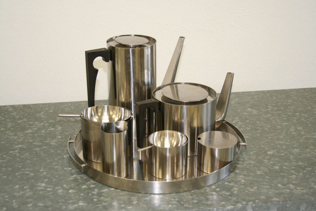 Danish Arne Jacobsen Coffee & Tea Set For Sale