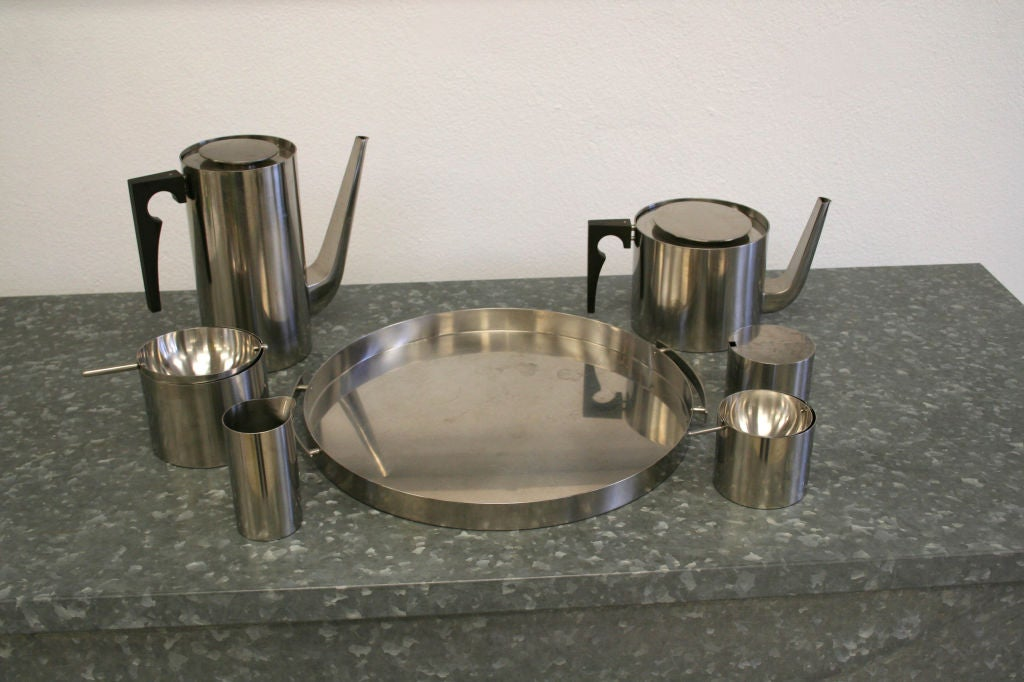 Arne Jacobsen Coffee & Tea Set In Good Condition For Sale In West Palm Beach, FL