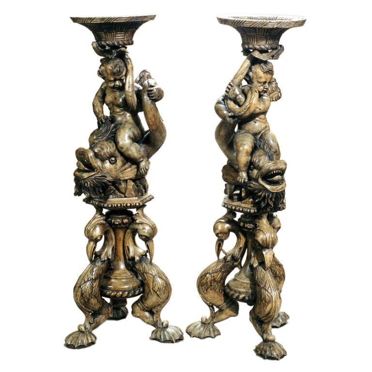 Carved Wood Stands For Sale
