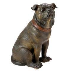 Terracotta Pug Dog