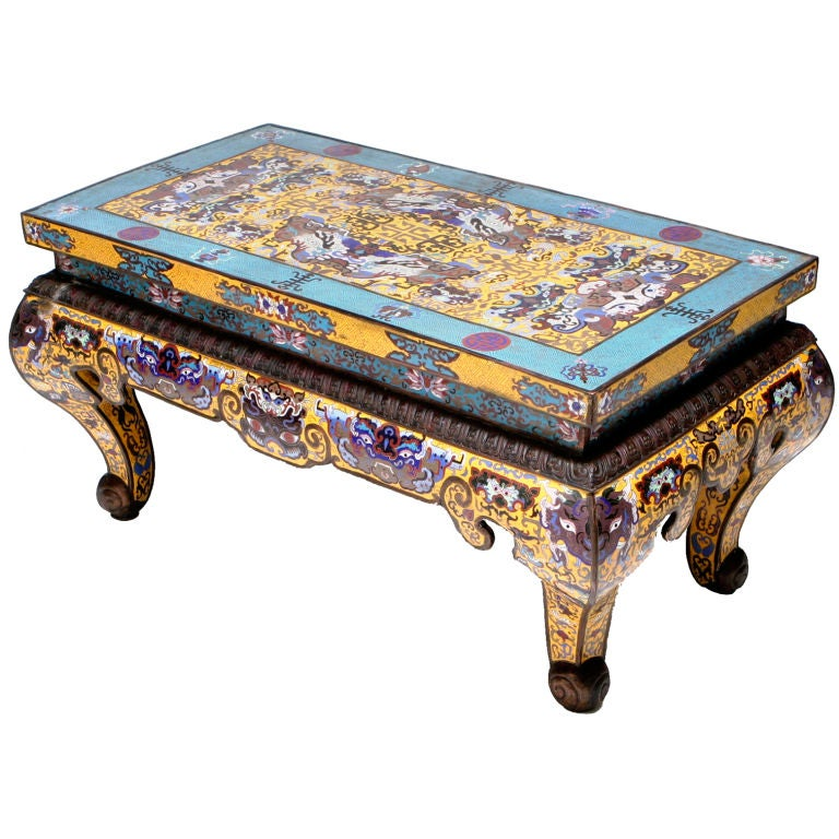 Cloisonné Coffee Table For Sale At 1stdibs